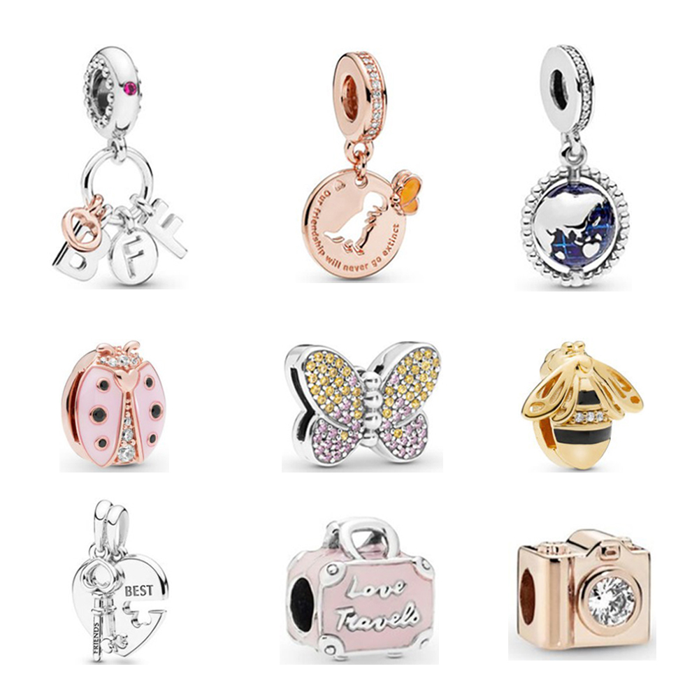 Wholesale 925 sterling silver charms for pandora bracelets high quality dangle charms for pandora