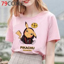 Футболка с покемонами, Мужская футболка с героями мультфильмов Kawaii, летний топ с забавным Пикачу, графический аниме, футболка размера плюс, ...(Китай)