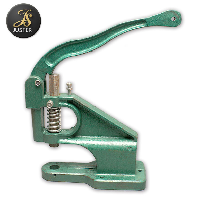 Manual hand press metal eyelet machine for paper leather