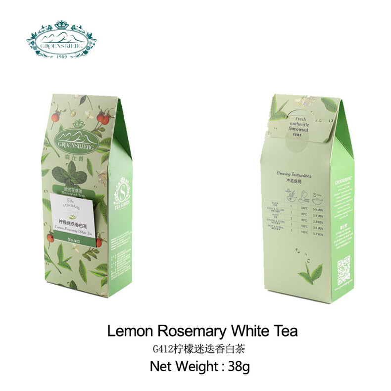 classic White tea with lemongrass refreshing fragrance lemon rosemary chinese herbal loose tea fresh authentic flavour - 4uTea | 4uTea.com