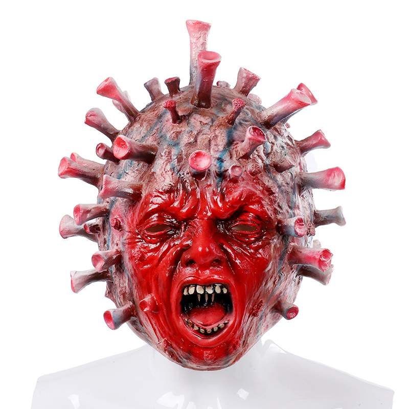 <strong>Custom</strong> Virus <strong>Mask</strong> <strong>Halloween</strong> <strong>Mask</strong> Men Women New Latex <strong>Mask</strong> Headgear Horror Party