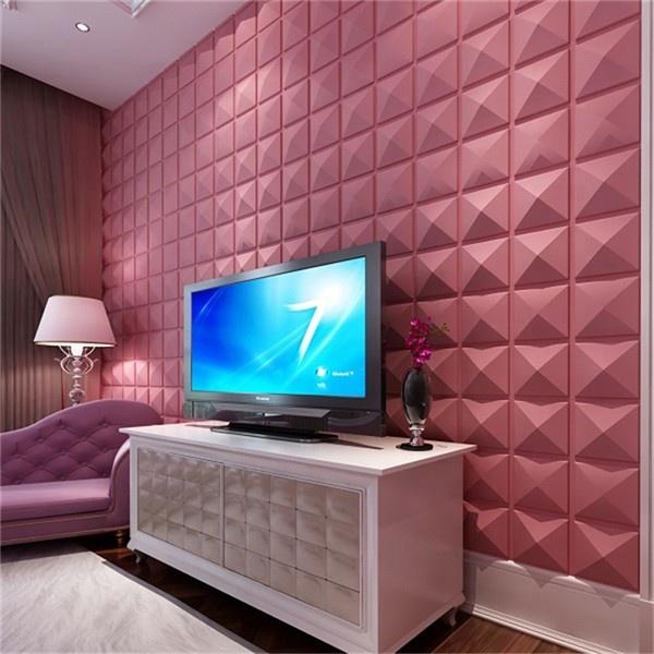 Moderna carta da parati salone tv divano 3d in rilievo pannelli di parete 3d bianco pannelli di parete