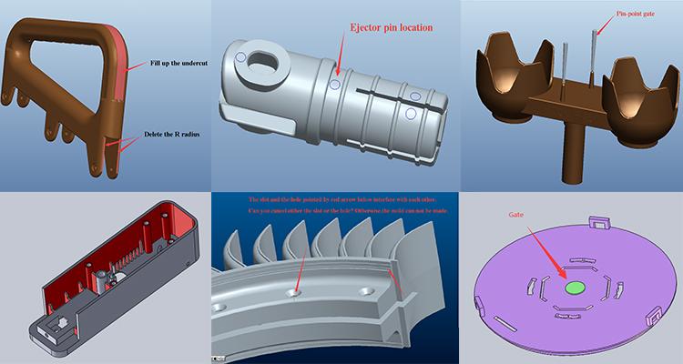 OEM personalizado de plástico de moldeo por las fábricas de moldeo por inserción