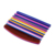 Custom logo soft touch eva foam nail file block half moon polishing beautiful nail file with buffer