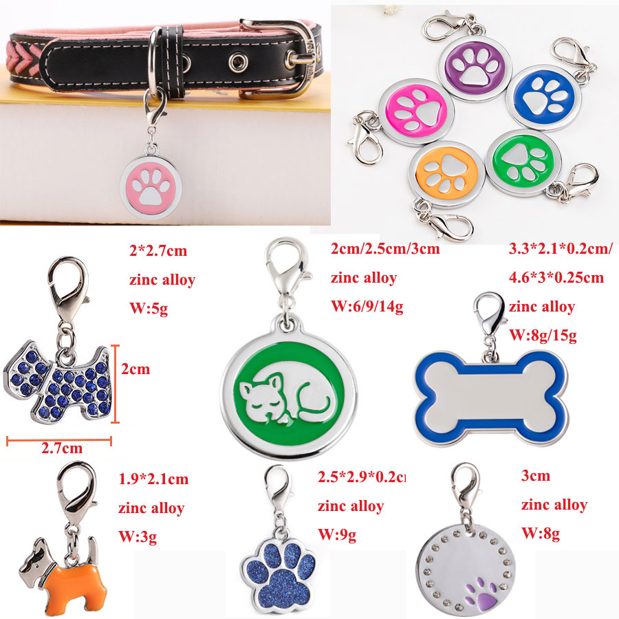 Wholesale Custom Shape  Dog Tag ID Number Pet Tag  Support Printing NFC QR Code Barcode