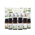 Ready to ship organic 10ml bottles eucalyptus/peppermint/lemongrass/tea tree/lavender/orange essential oil gift set for sale