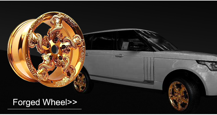 Customized 2-piece super deep concave car wheels polished  forged wheels