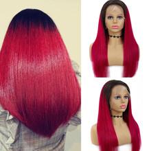 Ombre блонд 1B, 27 цветов, прямые 13x4 кружевные передние волосы, бразильские волосы Remy, коричневые кружевные передние волосы, парики из бобов, EUPHORIA(Китай)