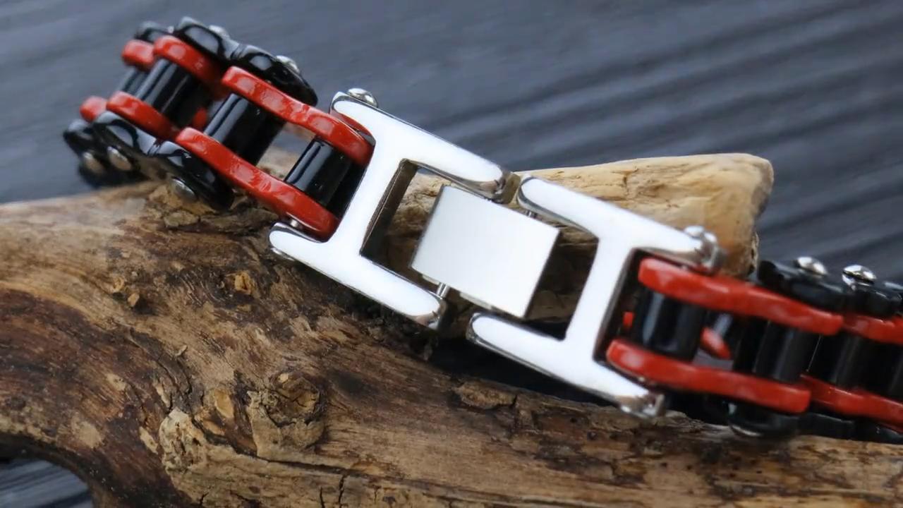 Cina di vendita di disegno speciale bella lega di modo catena della bicicletta a forma di bande di mano del braccialetto per l'uomo