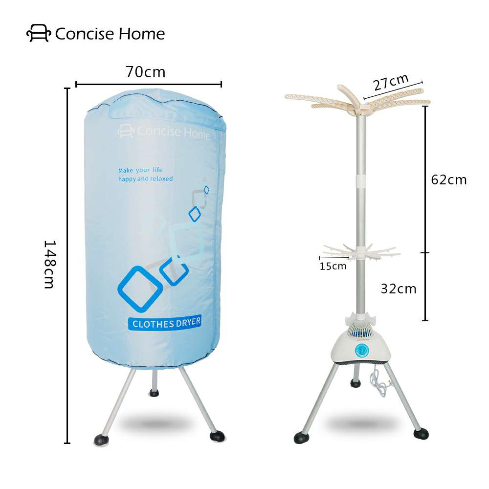 Stand 1000W Large Capacity 10kg Double layer Aluminum alloy Indoor Wet Laundry Warm Air Drying Portable Electric Clothes Dryer
