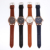 4094  Hot Wholesale Date Leather Mens Watch Business Casual Watches High Quality Wristwatches