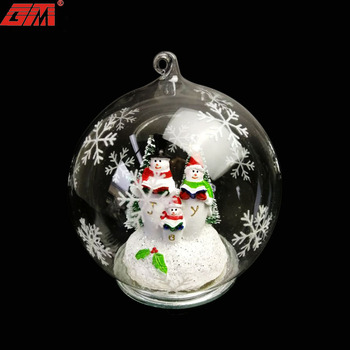 Novelty holiday gifts glass baubles ball family personalized christmas ornaments