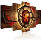 Home Decor Framed Pre Printed Paint Pop Abstract Living Room 5 Panel Print Good Modern Painting Wall Art Canvas