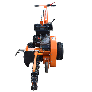 self powered 420cc gasoline engine powered small trencher rock ditcher for for laying farmland pipelines