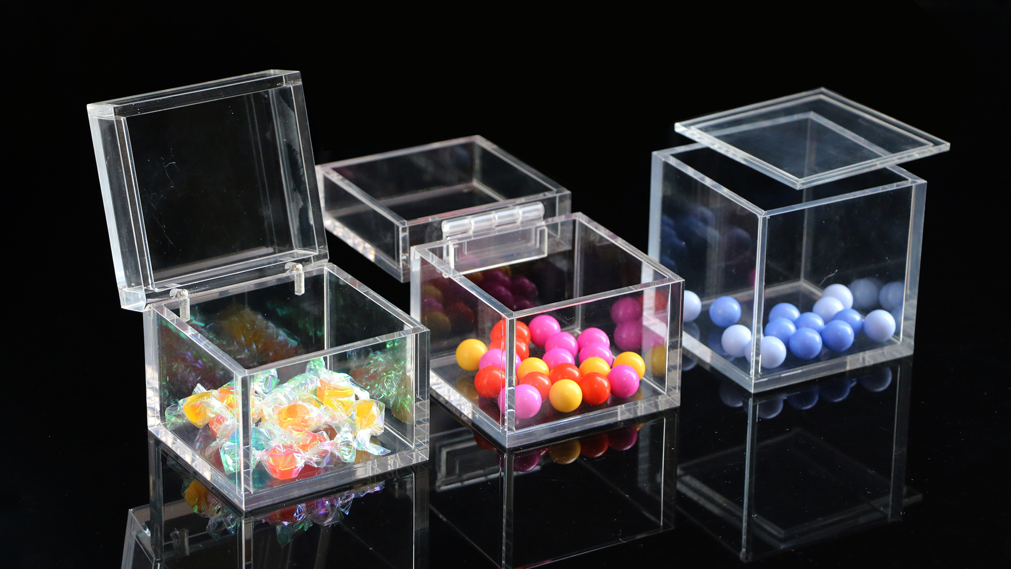ขายส่งที่กำหนดเองราคาถูกClearสีขาวขนาดใหญ่Plexiglassกล่องบรรจุภัณฑ์สี่เหลี่ยมผืนผ้าอะคริลิคเก็บกล่อง