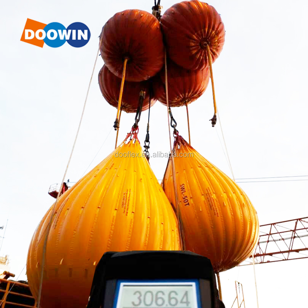 Parachute Fabric Water Proof Crane Load Testing Water Bag With Load Cell