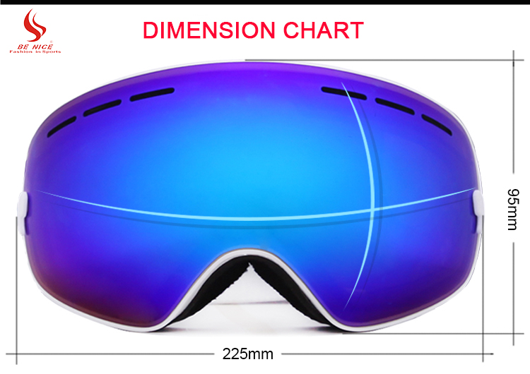 PC Lens Ski Goggles Polarized Available OMID-3100 Cheaper Comfortable Any Color Custom Logo Snow Goggle