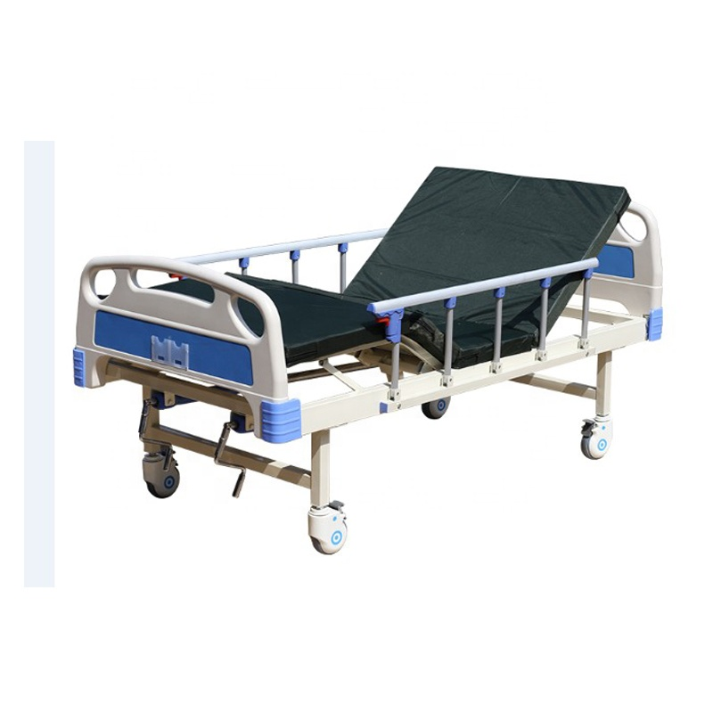 Factory wholesale ABS manual double shake two-function nursing bed multi-function medical bed elderly patient hospital bed
