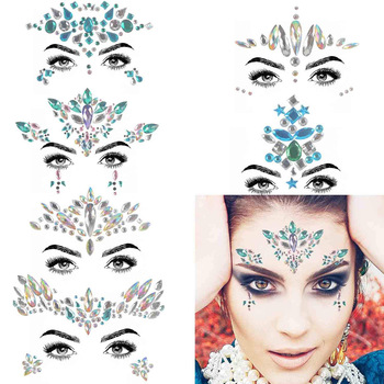 ins new designs Face tattoo paster set environmentally friendly, non-toxic customizable