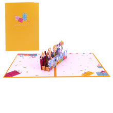3D Pop Up Happy Birthday Cards Custom Greeting Cards