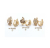 A01 Xuping Jewelry 18K Gold Plated Fashion pearl Earring jewelry For ladies