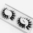 3d Faux mink lashes custom box packaging natural lashes Mink Eyelashes Vendors