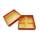 Wholesale Golden Plastic Disposable Mooncake gift Box Mooncake Box Packaging