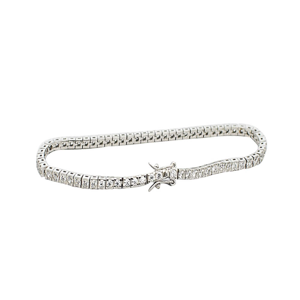 1.75MM <strong>CZ</strong> Silver 925 <strong>Tennis</strong> <strong>Bracelet</strong> For Women Jewelry
