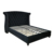 luxury upholstered king size button tufted sleigh fabric bed