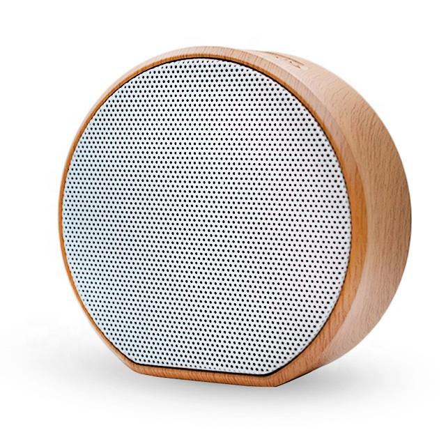 Wanggan A60 Wood grain custom bluetooth wireless card speaker stereo private mode smart bluetooth speaker
