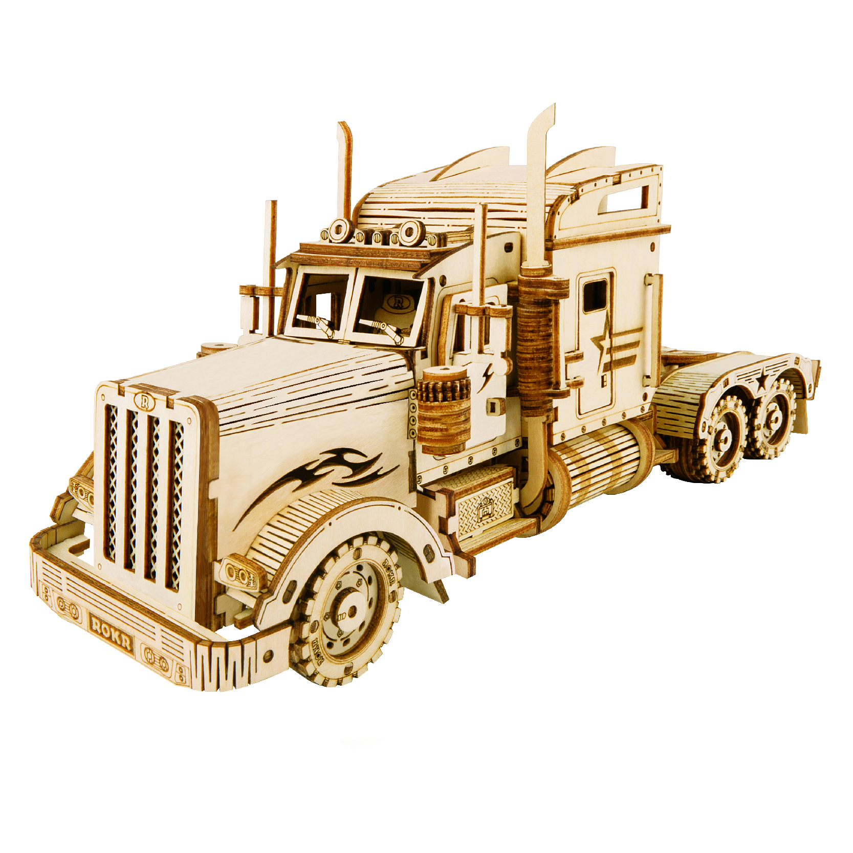 Toys Factory Kids IQ Car Truck Mechanical Wooden 3D Car Puzzle