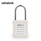 Stainless Manufacture Padlock 4MM Stainless Steel Shackle Industry Safety Lockout Tagout White Padlock With Master Key