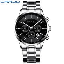 CRRJU мужские часы Топ люксовый бренд повседневные хронограф кварцевые наручные часы модные стильные мужские военные водонепроницаемые часы...(Китай)