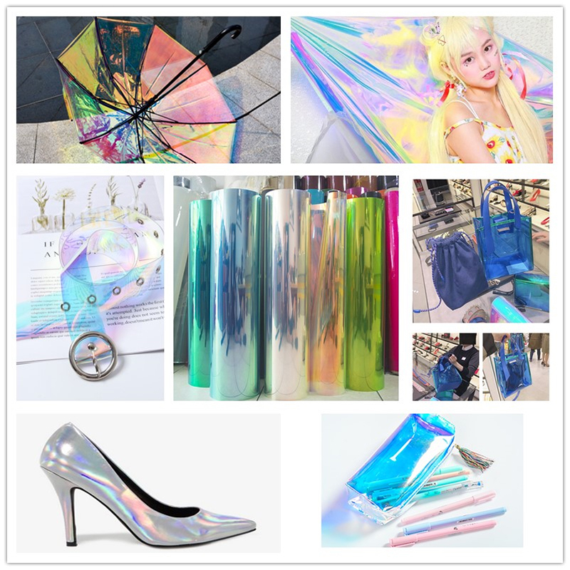 RG TPU Rainbow Iridescent Holographic Film For Art And Design