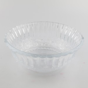 Clear Triangle Water Glass Bowl With Frosted Logo Rock Glass