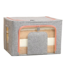 Transparant Venster Grote Opvouwbare Onderbed Mand Kinderen Kid Speelgoed Doek Auto <span class=keywords><strong>Quilt</strong></span> Schoon Up Organizer Container Opbergtas Doos