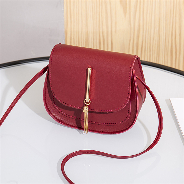 Best Selling 2020 Fashion All Match Women Simple Shoulder Bags Leather Tassels Square Crossbody Bag