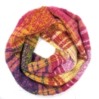 Top Fashion Women's Girl's Winter Plaid Tartan Checked Infinity Loop Neck Warmer Scarf