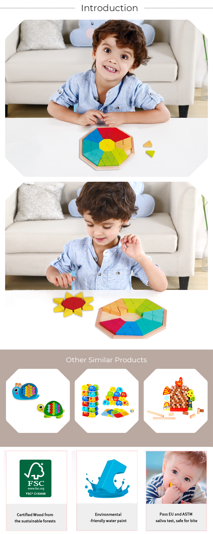 New Interesting  Puzzle Learning Gift Set Wooden Children 2020 Toys For Kids