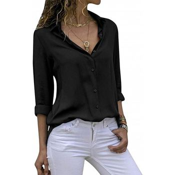 Latest Fashion Design plus size blouse black with top quality