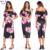 2020 Summer Printed Mid Ruffled Dress Slim-fit Collar Clothes One-step Skirt
