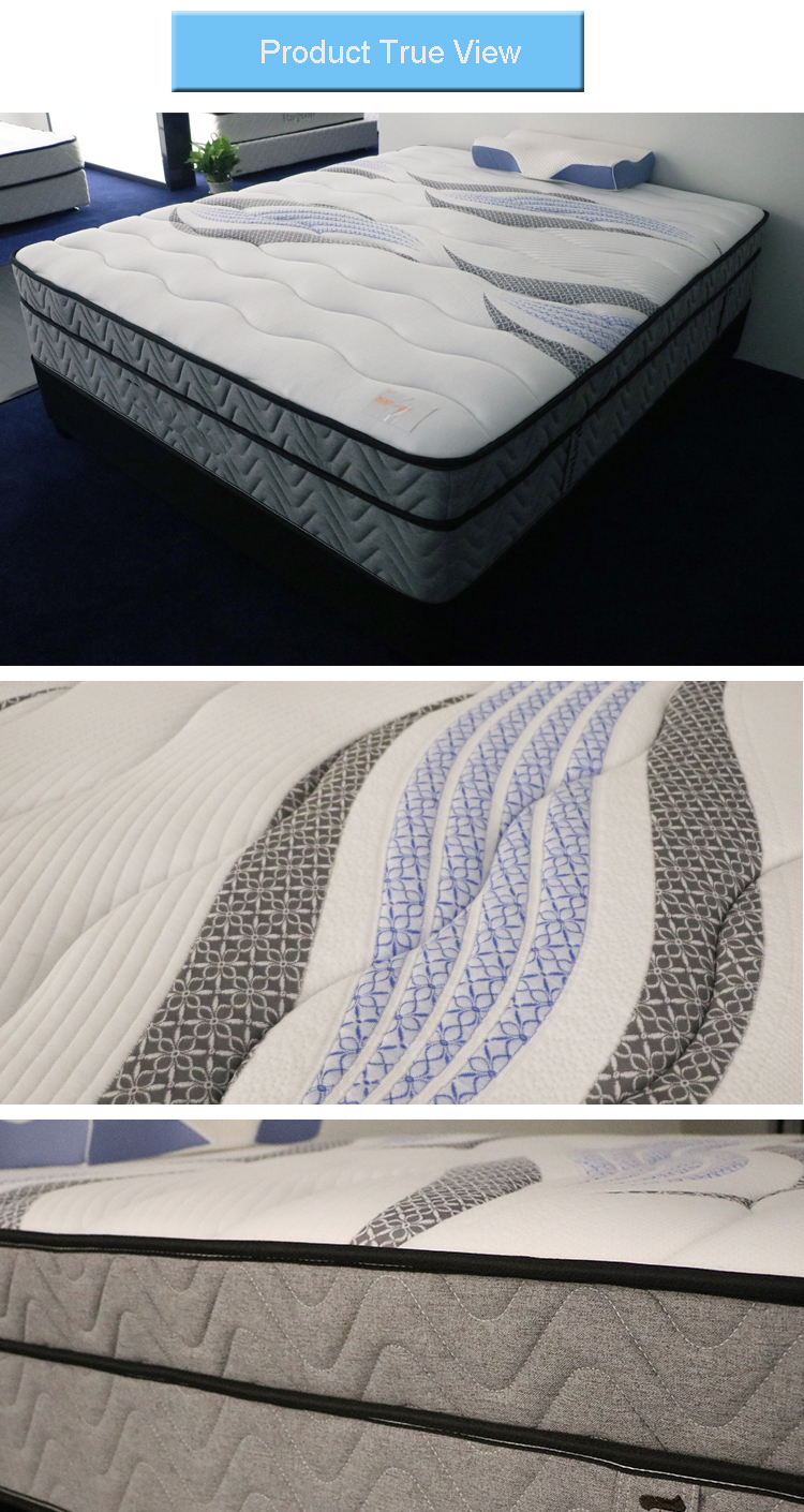 31cm queen guangdong mattress double pocket bonnell spring mattress
