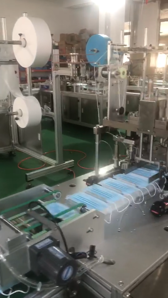 High speed fully automatic factory outlet disposable face mask machine with CE low price