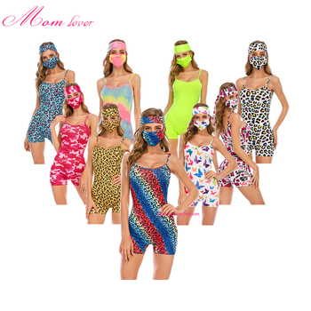 night dress party women pajama onesie with matching facemask headband