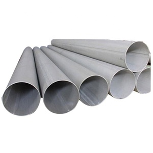 Customized ASTM A312 304 316 5 inch round shaped stainless welded steel pipe