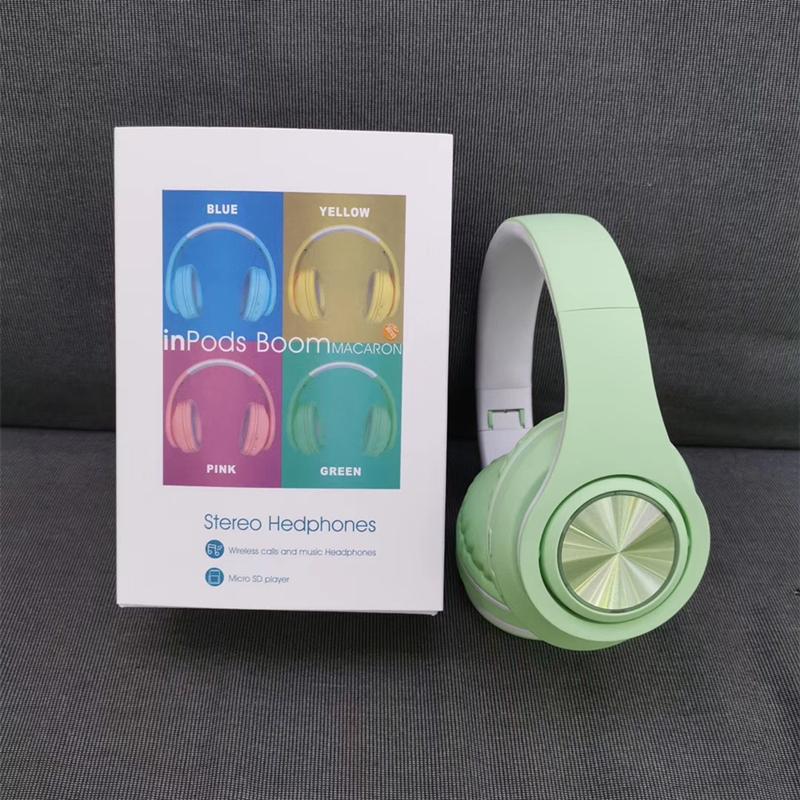 Terbaik Jual Headset Stereo Nirkabel Maskapai Ikat Kepala Warna Macaron B39