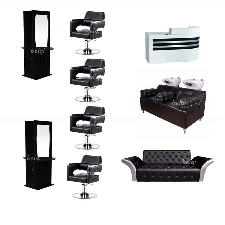 High quality barbershop cheap modern black barber chair for japan footrest