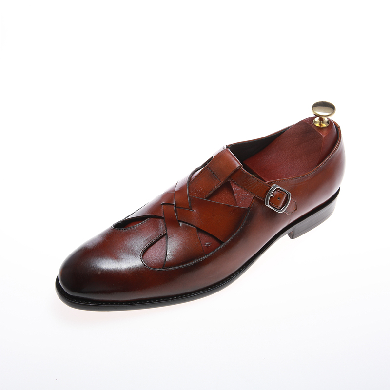 Classic luxury brand top quality Italian pure cowhide leather men's shoes
