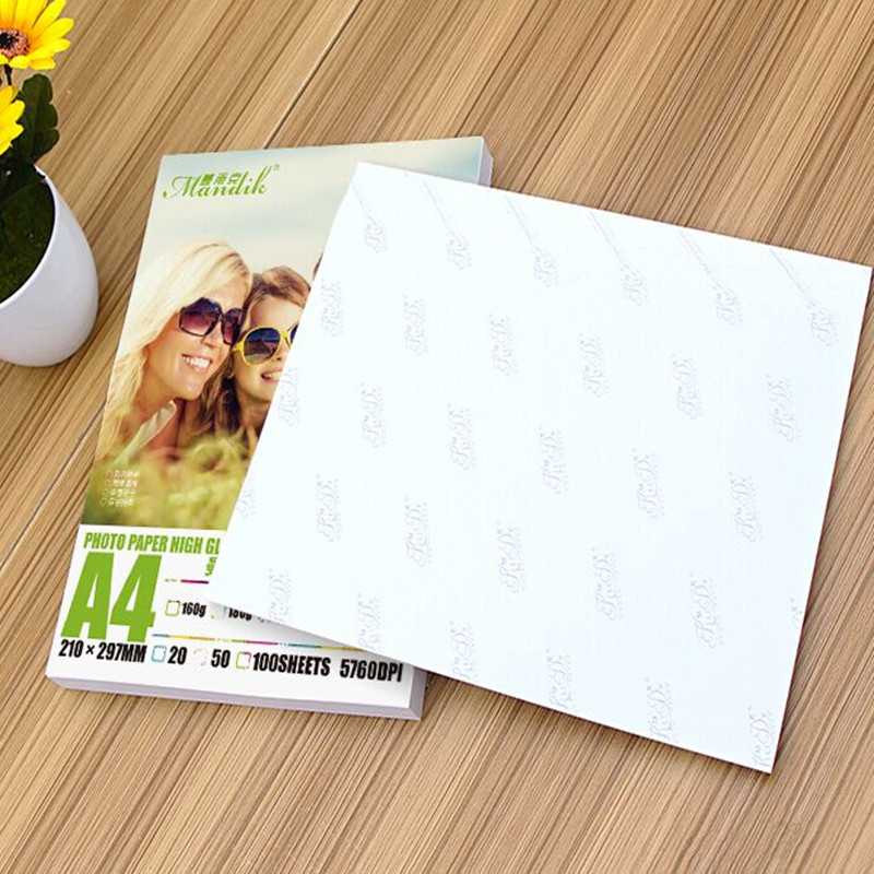 Mandik A4 180g 200g 230g 260g Casted Coated High Glossy Photo Paper