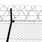 Galvanized Chain Link Wire Mesh Fence 0.9M High Airport Prison Frontier Machinery Protection